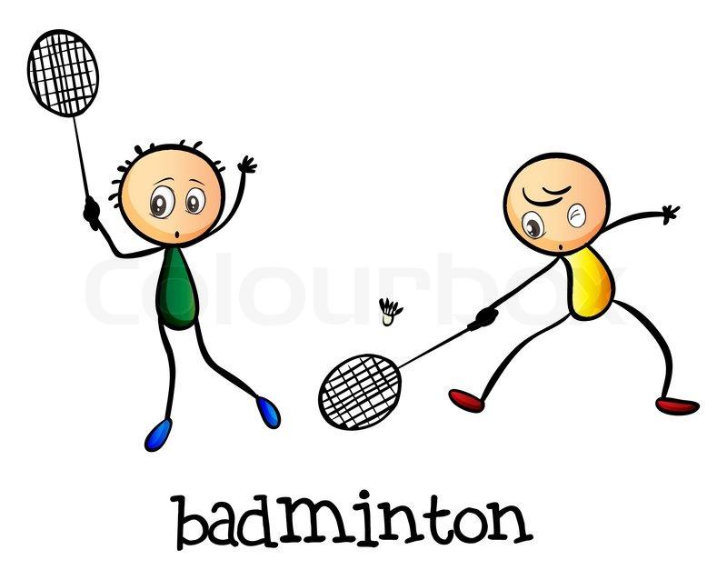 Billedresultat for badminton tegning