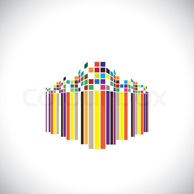 Abstract architecture icon of a modern futuristic building - vector ...: colourbox.com/vector/abstract-architecture-icon-of-a-modern...