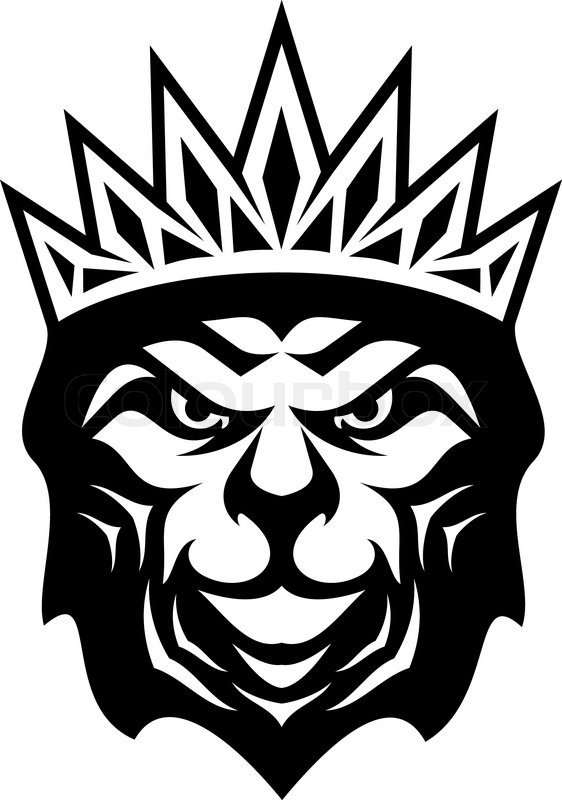 Heraldic Crowned Lion A Symbol Of Royalty Or The King Of The Jungle