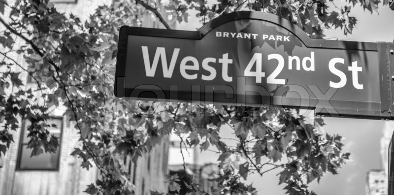42nd street sign in Manhattan, New York City. | Stock ...