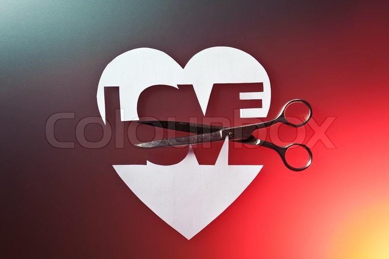 The Broken Heart A Symbol Of Unfortunate Love Stock Photo