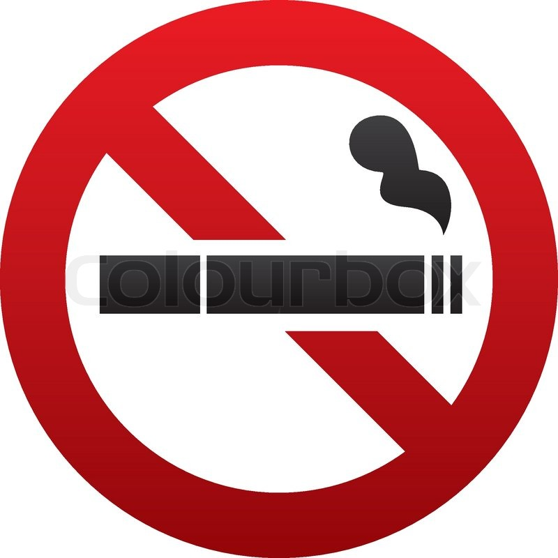 No Smoking Sign No Smoke Icon Stop Smoking Symbol Vector