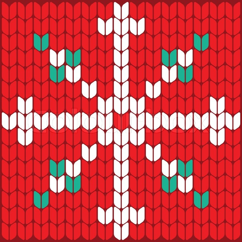 Texture Pattern Knitted Vector Snowflake Background Pattern