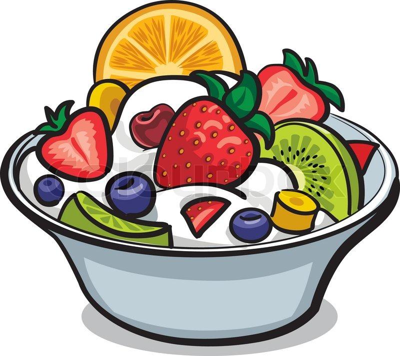 Fresh fruit salad   Stock Vector   Colourbox