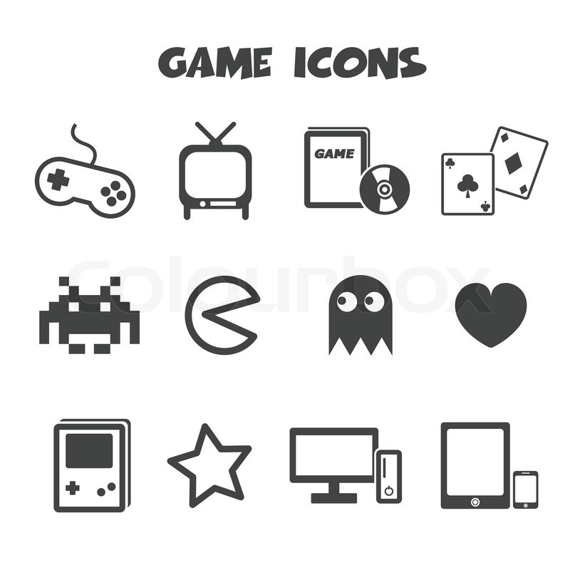Game Icons Mono Vector Symbols Stock Vector Colourbox