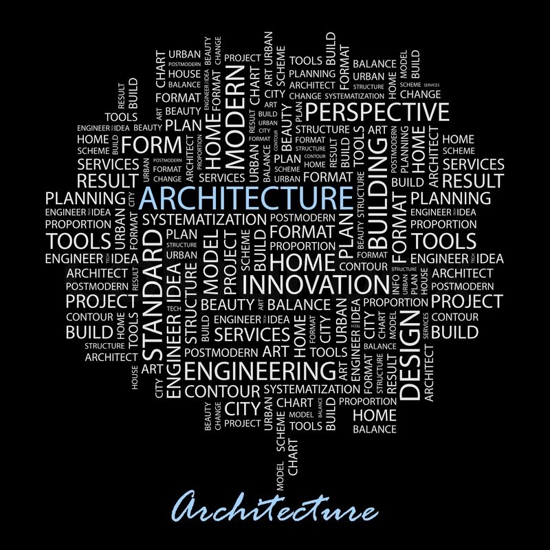 ARCHITECTURE. Word cloud illustration. ...   Stock Vector ...