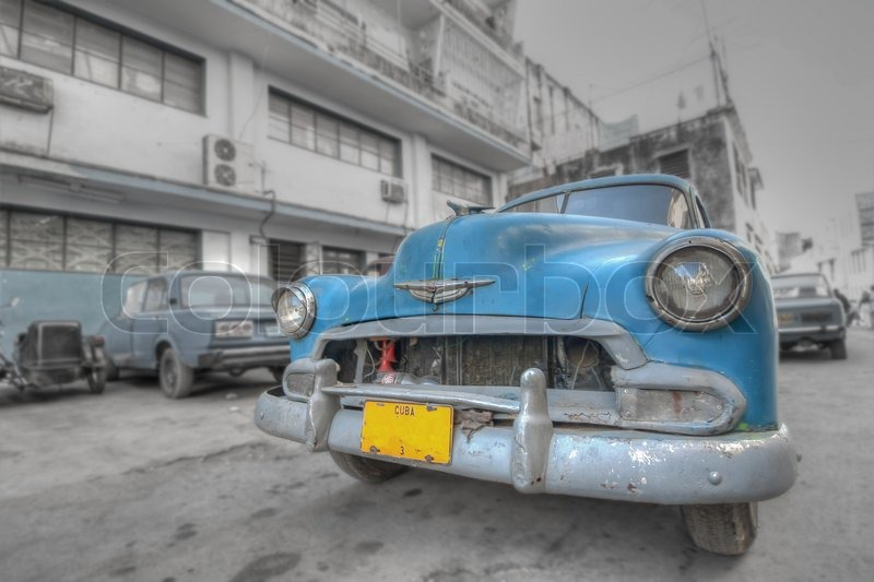 Cuba Caribbean car, stock photo