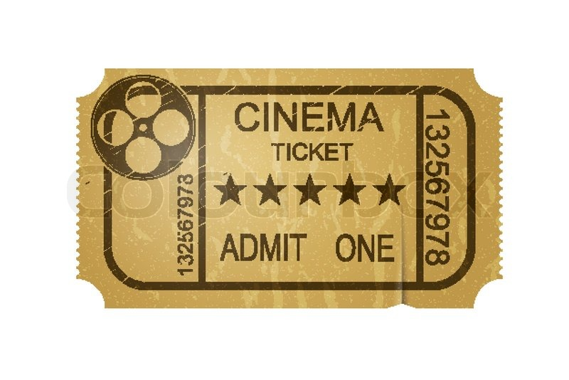 Old Fashioned Movie Tickets French