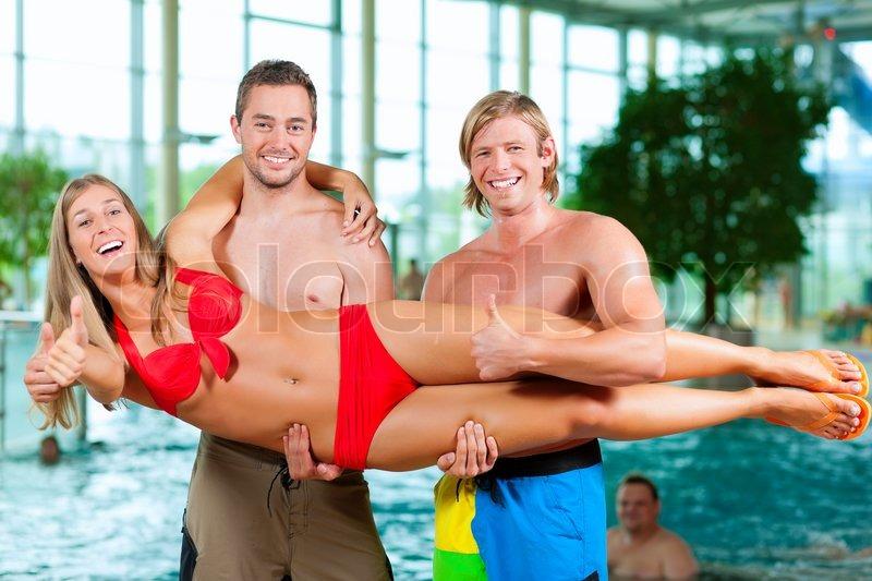 Three guys at pool
