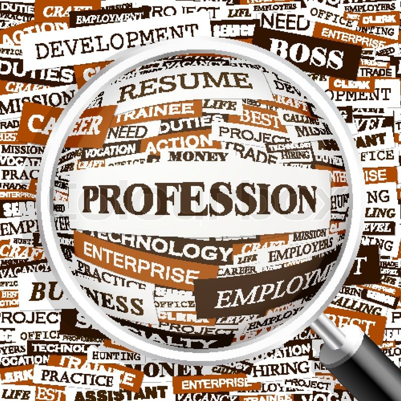 Profession Word Cloud Illustration Tag Cloud Concept