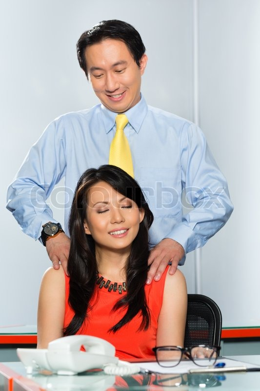 Business woman or secretary having a     | Stock image | Colourbox