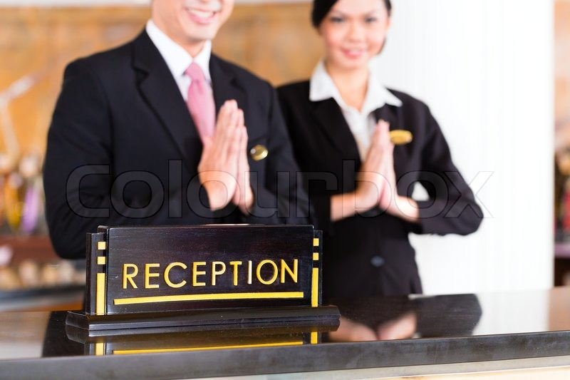 Chinese Asian reception team at luxury ... | Stock image ...