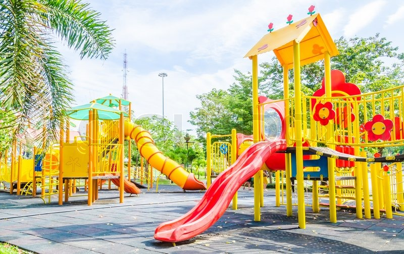 Outdoor Playground in the park, stock photo