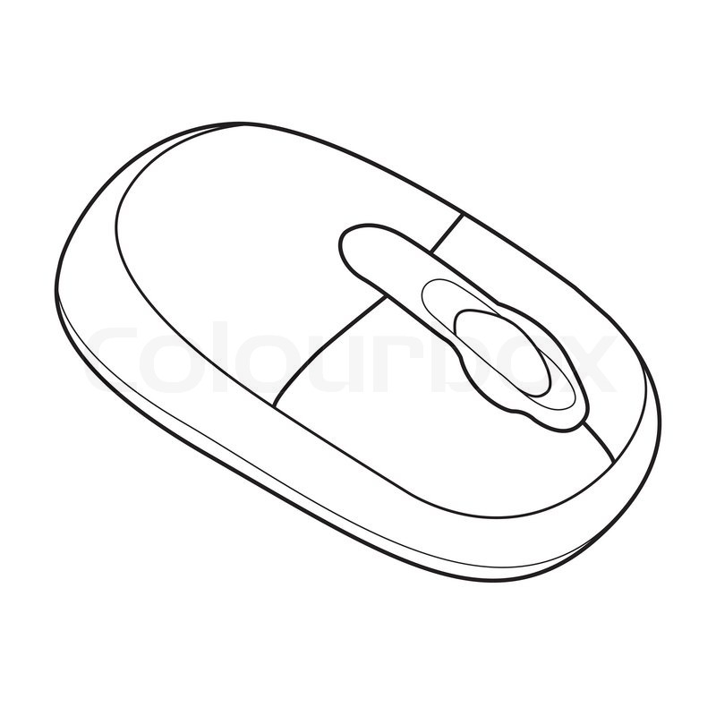 Drawing Lines With Mouse In Java : Image of wireless computer mouse isolated on background