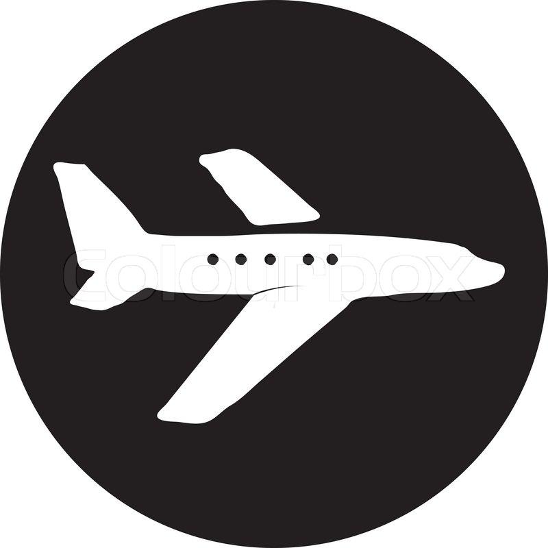 Airplane Symbol Stock Vector Colourbox