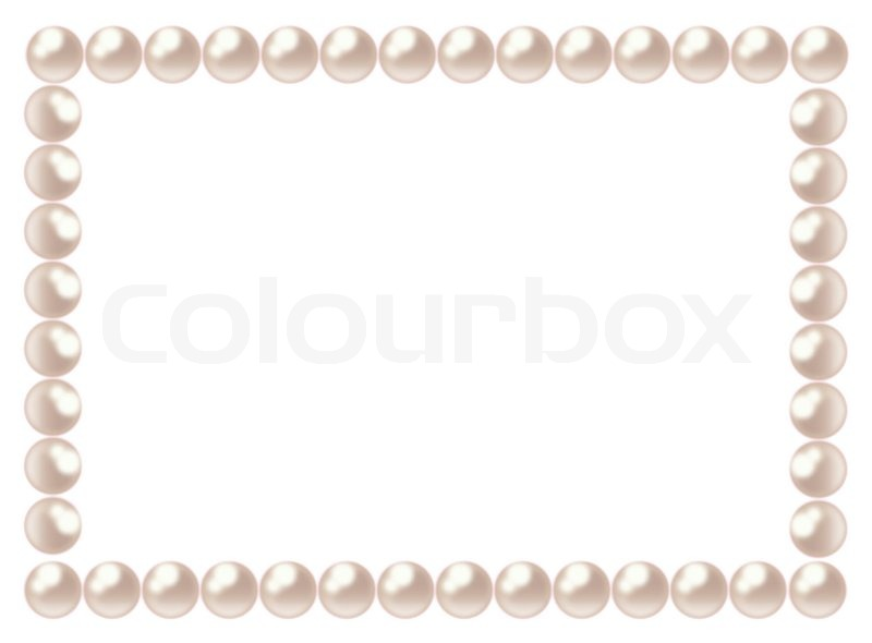 pearl frame stock vector colourbox