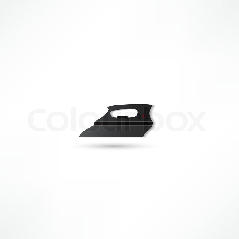 Steam Iron Icon ~ Steam iron icon stock vector colourbox