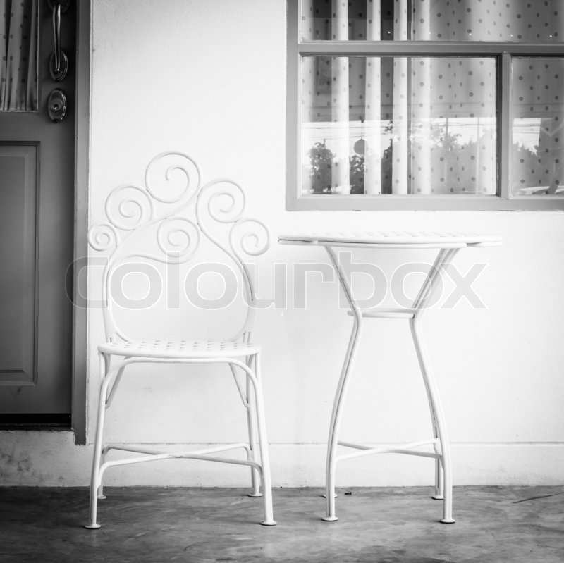 Table and chair, stock photo
