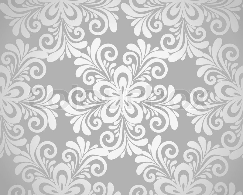 Excellent seamless floral background with flowers in silver many excellent seamless floral background with flowers in silver many similarities to the authors profile stock vector colourbox mightylinksfo
