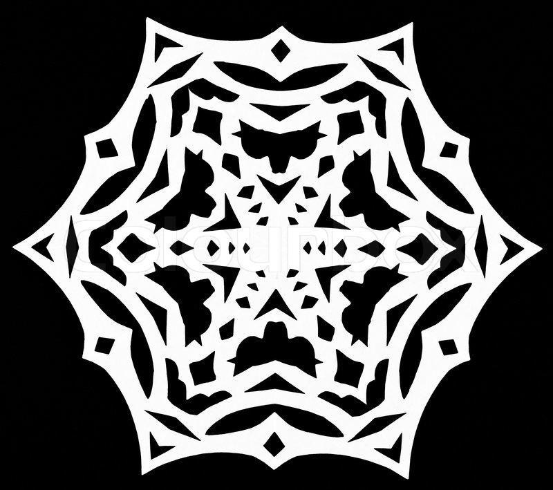 Black And White Snowflake Background White Snowflake on Black
