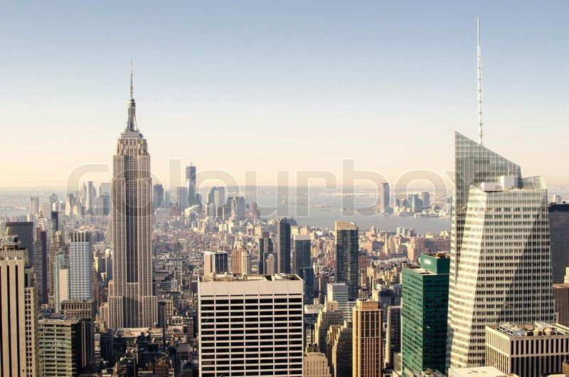 Manhattan Skyscrapers Symbols Of New York City Stock Photo