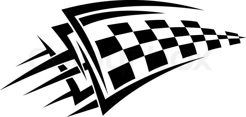 Tattoo with racing flag for sports design | Vector | Colourbox