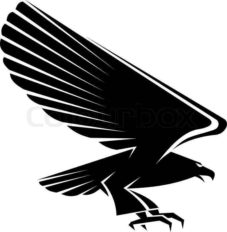 Black eagle tattoo isolated on white background stock for Black eagle tattoo shop
