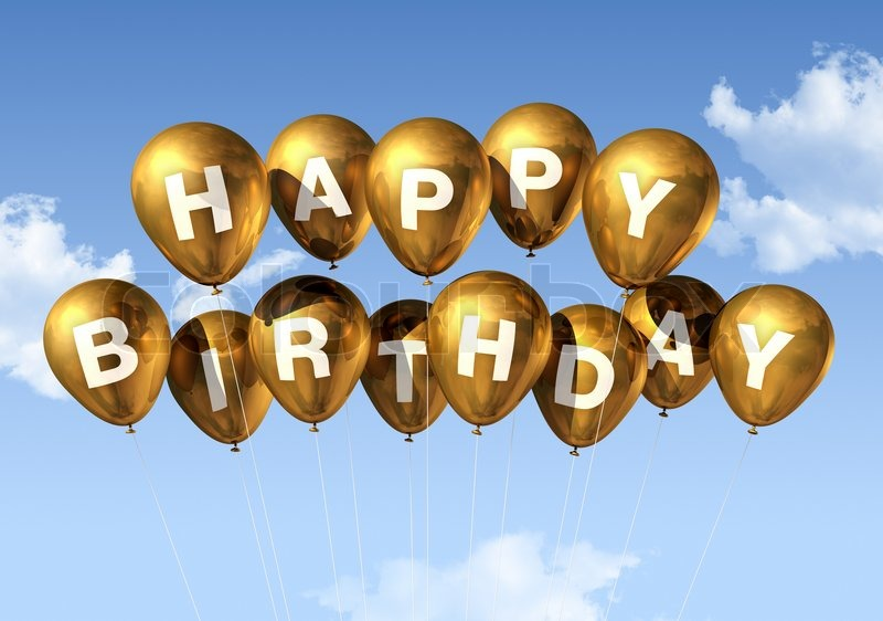 63ccd273b615 3D gold Happy Birthday balloons in the ...