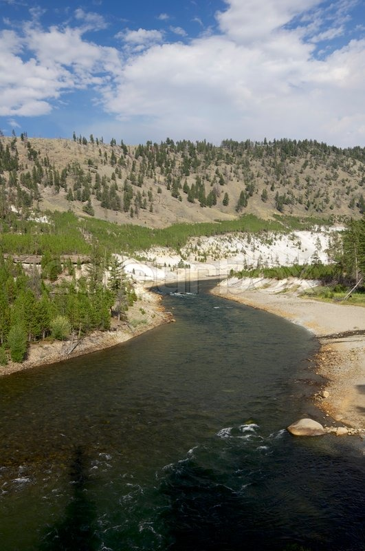 Yellowstone River In Tower Roosevelt Stock Image Colourbox