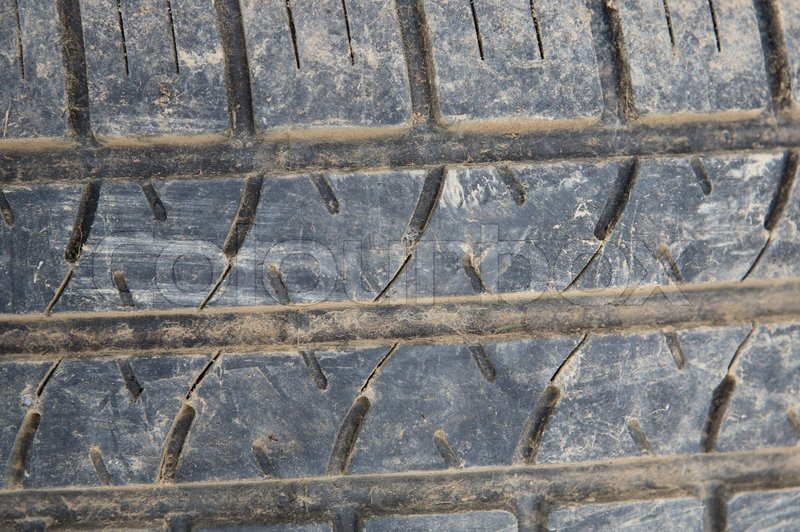 Texture of the wheel of a car spotted clay, stock photo