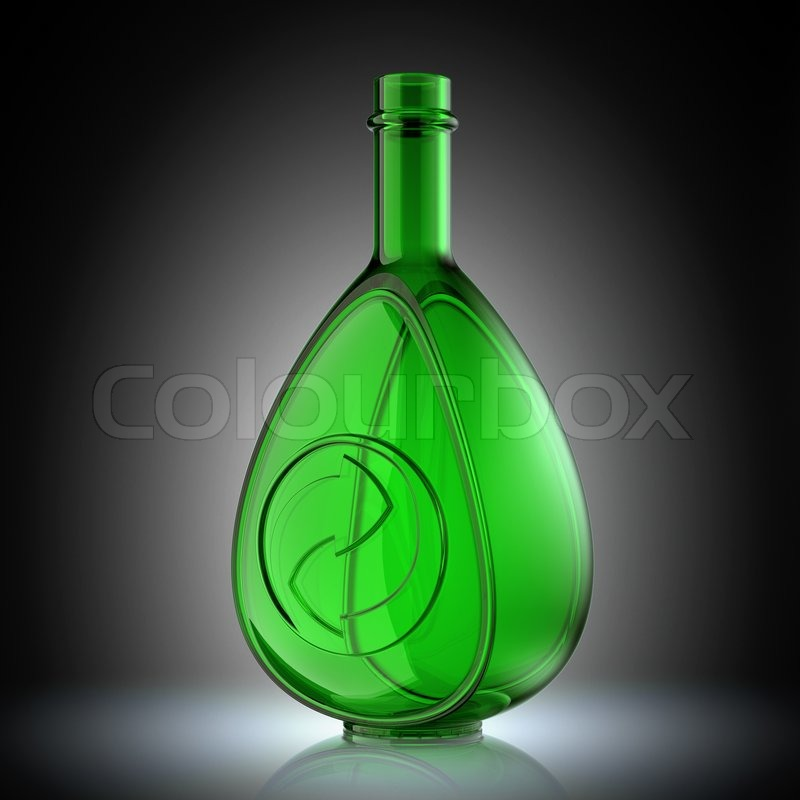 Recycle Glass Symbol And Recycling Symbol