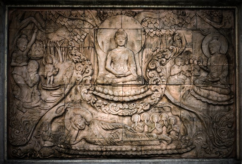 The story of Buddhist sculpture, stock photo