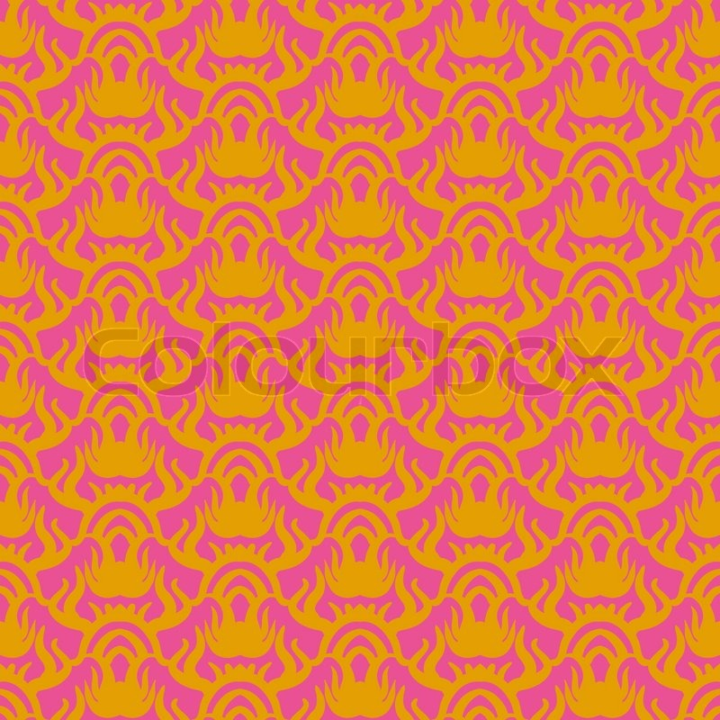 Ethnic Vector Seamless Pattern In Pink And Gold Texture For Web Print Home Decor Textile Paper Wallpaper Card Background Spring Summer Fashion