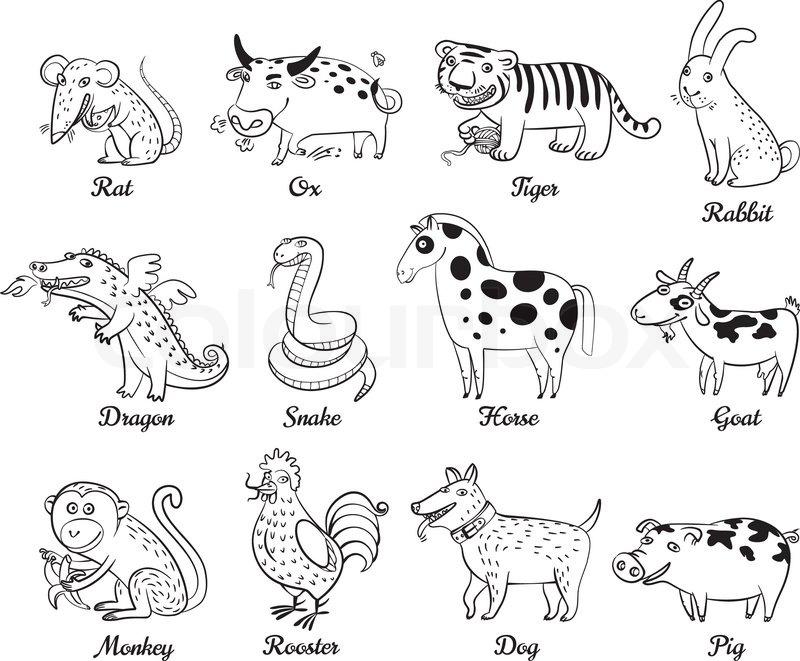 Chinese Astrology Rat Ox Tiger Rabbit Dragon Snake
