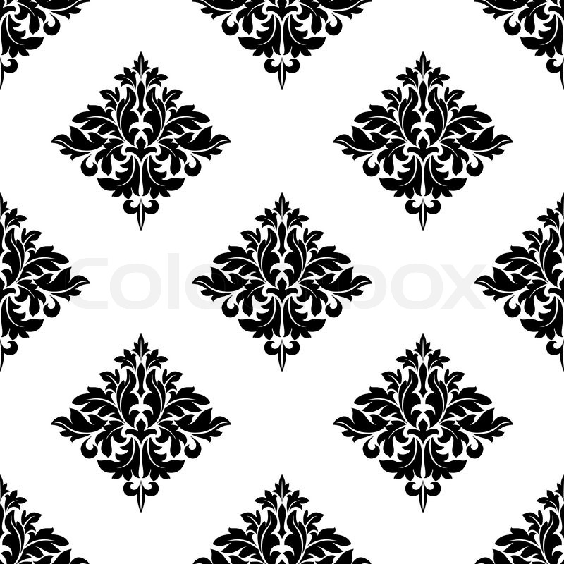 Diamond Shaped Seamless Arabesque Pattern With A Repeat
