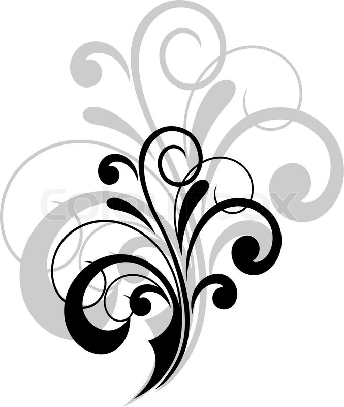 Simple Swirling Calligraphic Design Stock Vector Colourbox