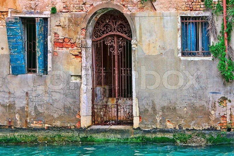 Facade Of Old Abandoned House With Stock Image Colourbox