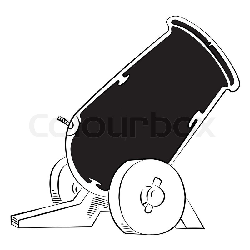 old style cannon sketch in vector format