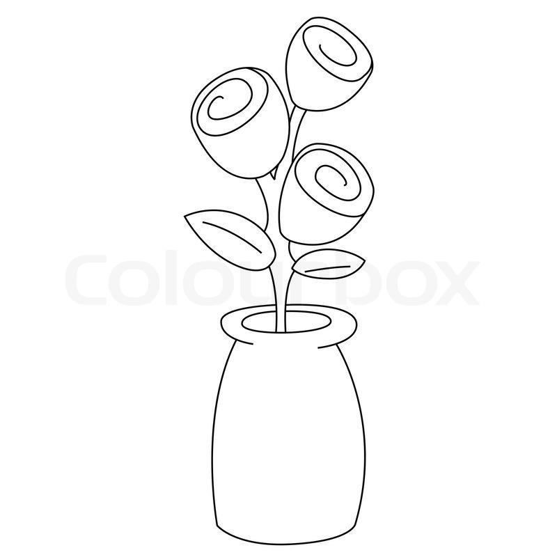 Flower Vector Black And White Black Outline Vector Flowers