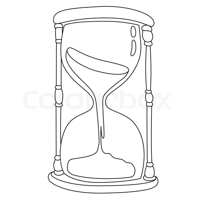 Sanduhr schwarz weiß  Sanduhr, symbol, abwarten | Vektorgrafik | Colourbox
