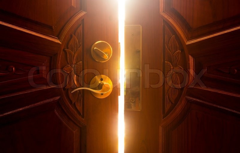 Open door light, stock photo