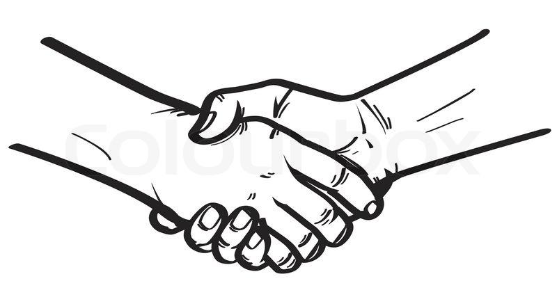 Shake hand | Stock Vector | Colourbox