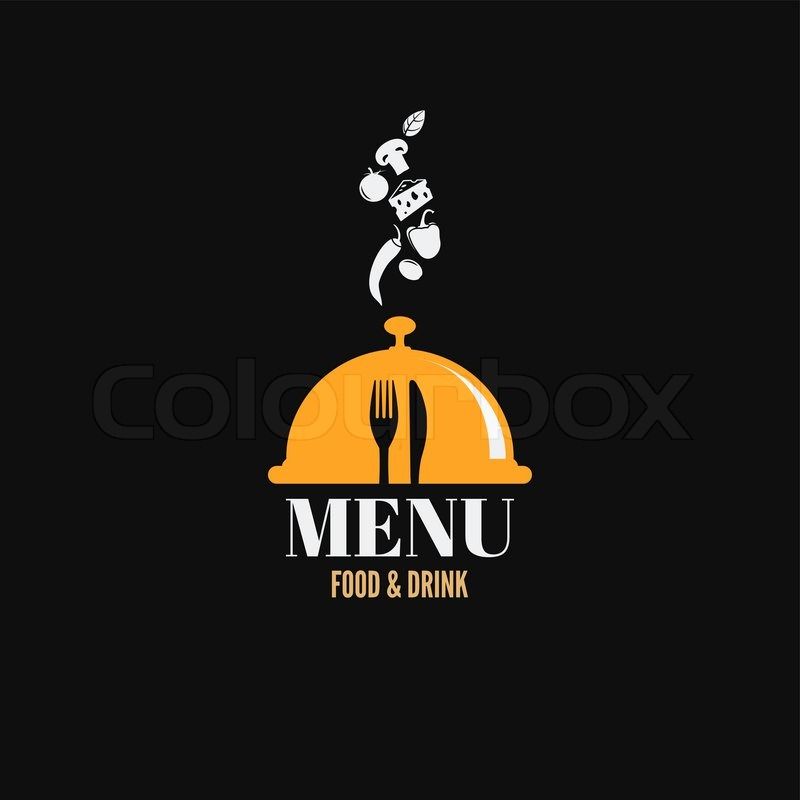 Menu design food drink dishes concept, vector