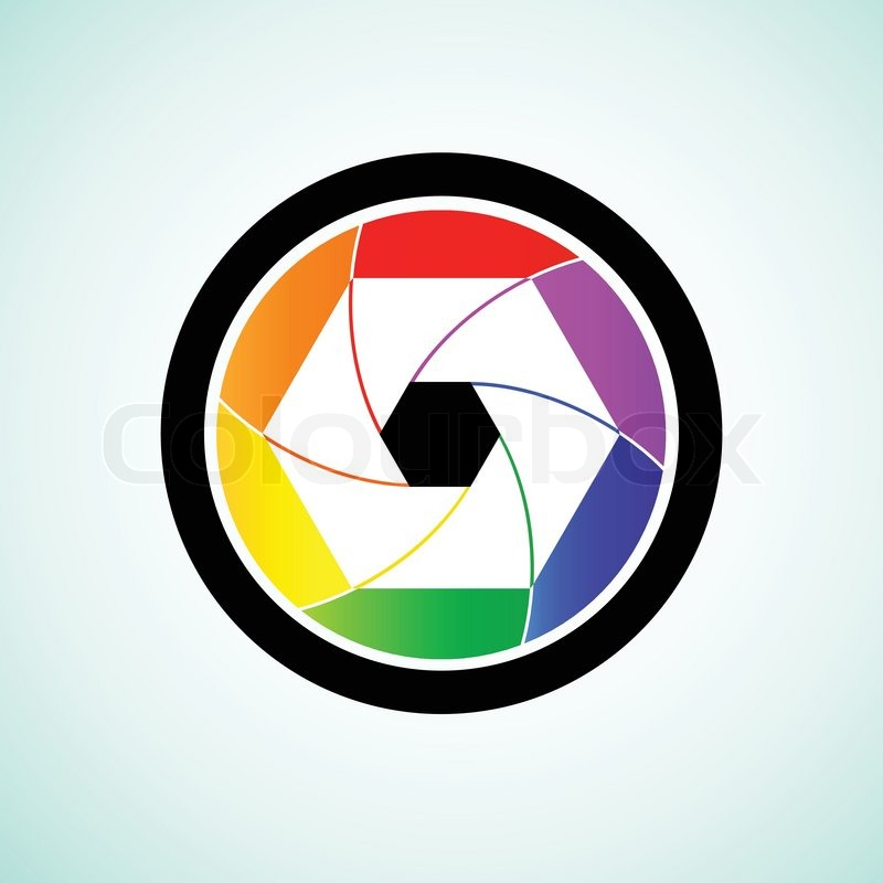 colorful camera shutter lens vector illustration stock vector rh colourbox com camera lens vector logo camera lens vector png
