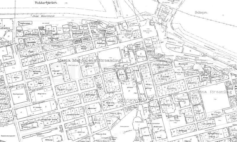 Old blueprint of the cental parts of stockholm stock photo colourbox malvernweather Images