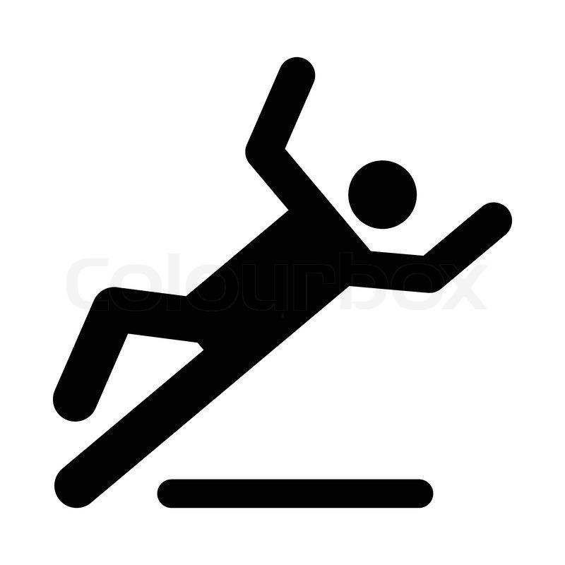 Wet Floor Caution Sign Danger Of Slipping Isolated On
