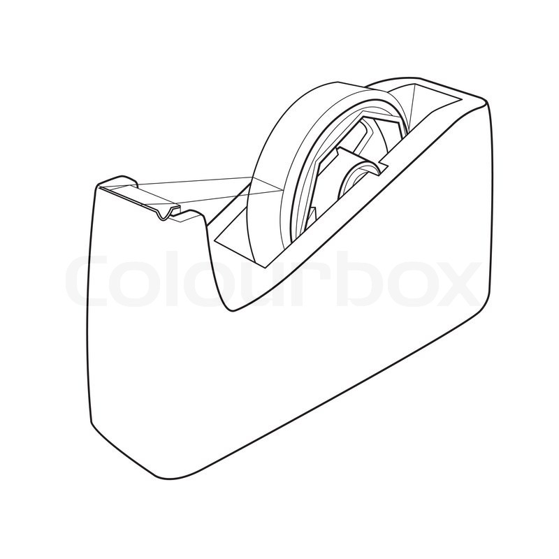 tape dispenser with adhesive tape  office equipment