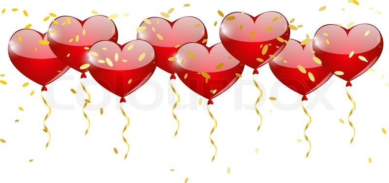 Heart balloons border for your design stock vector colourbox heart balloons border for your design vector thecheapjerseys Gallery