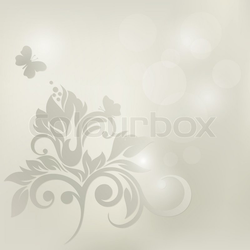Floral Background Wedding Card Or Stock Vector Colourbox