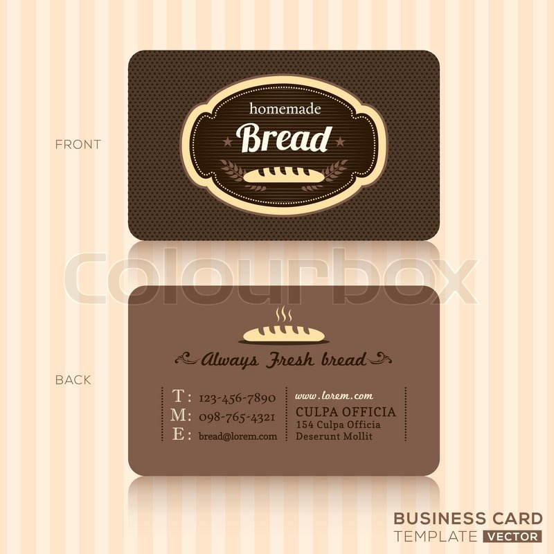 Bakery house business card design template stock vector colourbox bakery house business card design template vector reheart Gallery